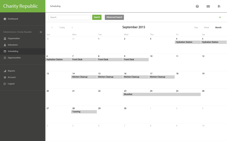 Volunteer Scheduling Image